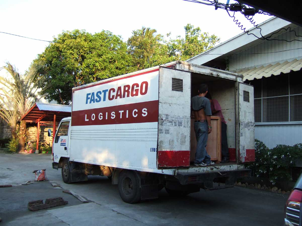 Our things arrive in Iloilo City