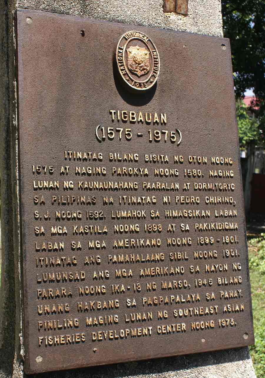 National Historical Commission Plaque - Tigbauan, Iloilo