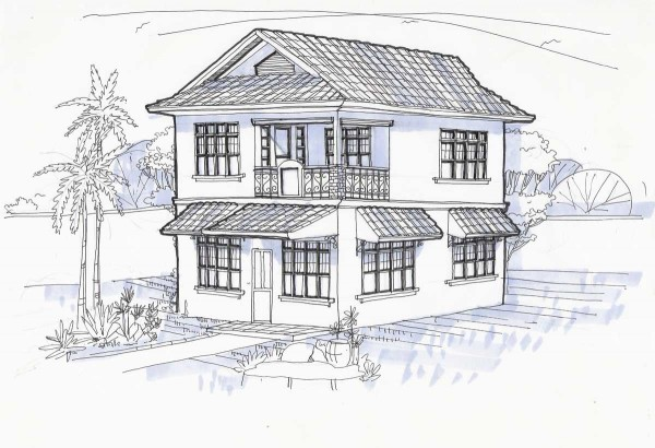 Our philippine house project architects and builders my for Architecture modern house design 2 point perspective view
