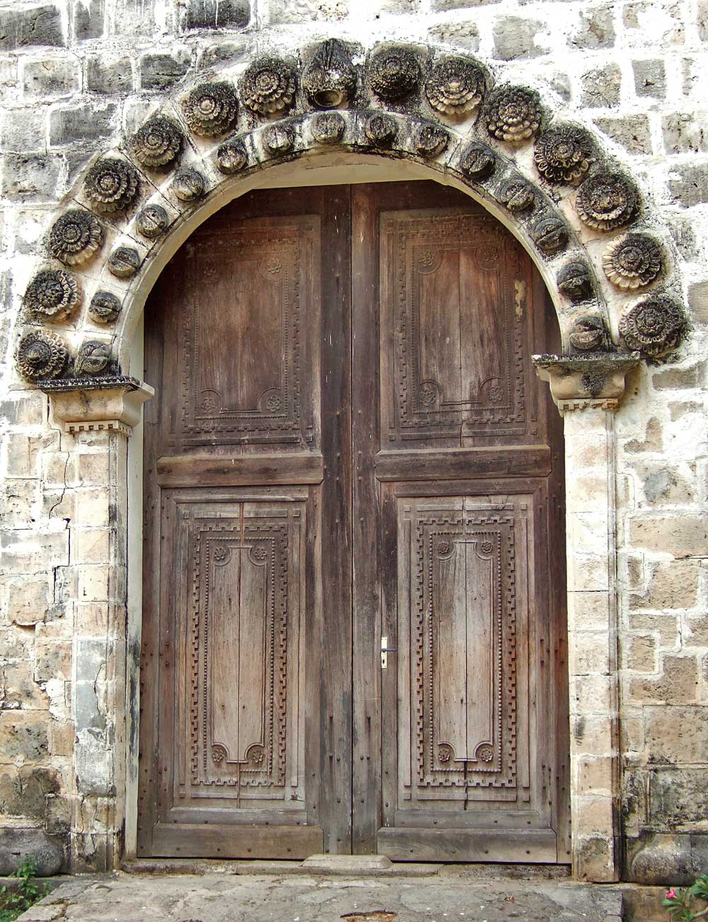 Main doorway, Anini-y Church, Antique Province