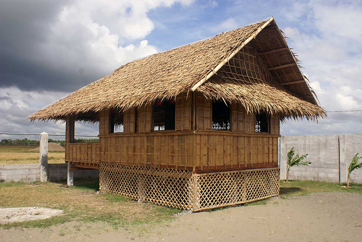 The completed bahay kubo thirty five days labor and 1500 00