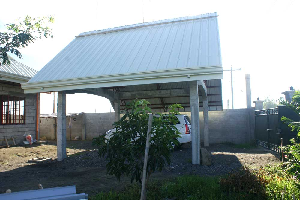 Carport almost done 7-12-10