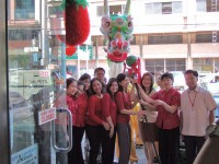 Lunar New Year Celebration, China Bank Mabini Branch, Iloilo City.  At smaller branches, they'll try to make you feel  part of the family.