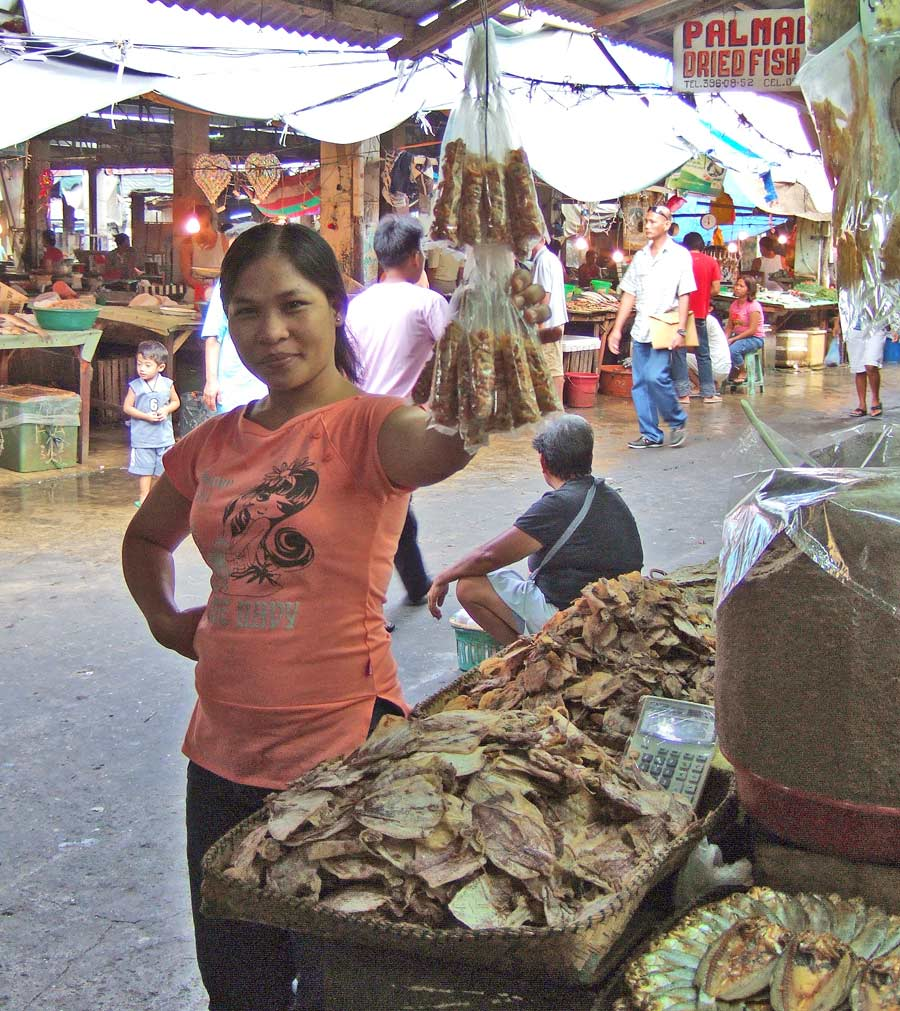 Dried fish vendor - Iloilo City Public Market