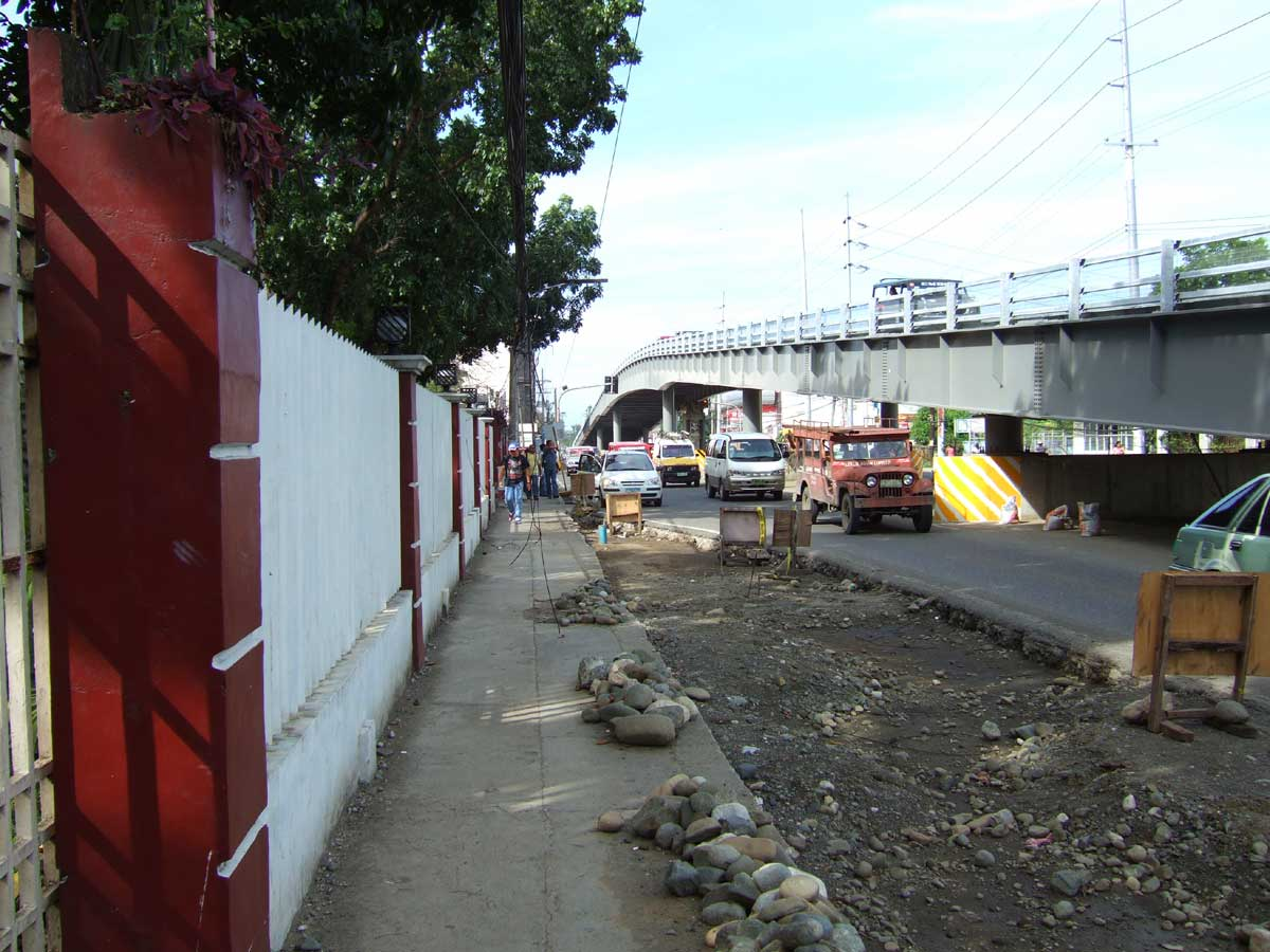 infante Flyover in front of University of the Philippines Visayas