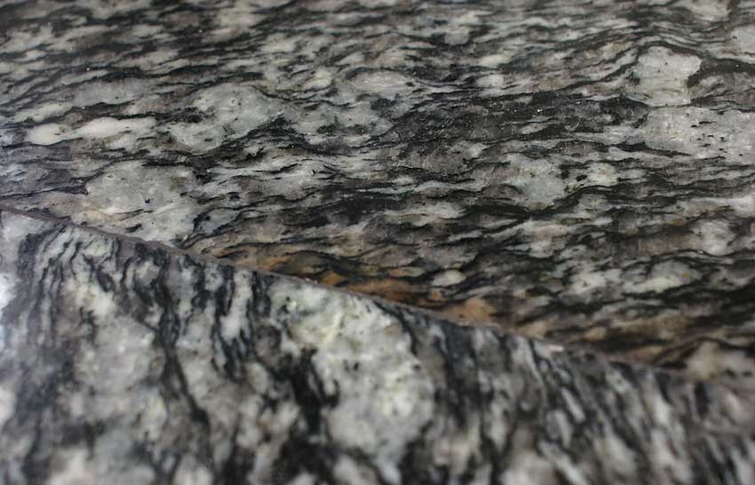 Epoxy stained granite.