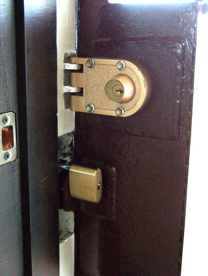 Security door locks inside & Our Philippine House u2013 Security and Crime Prevention | My Philippine ...