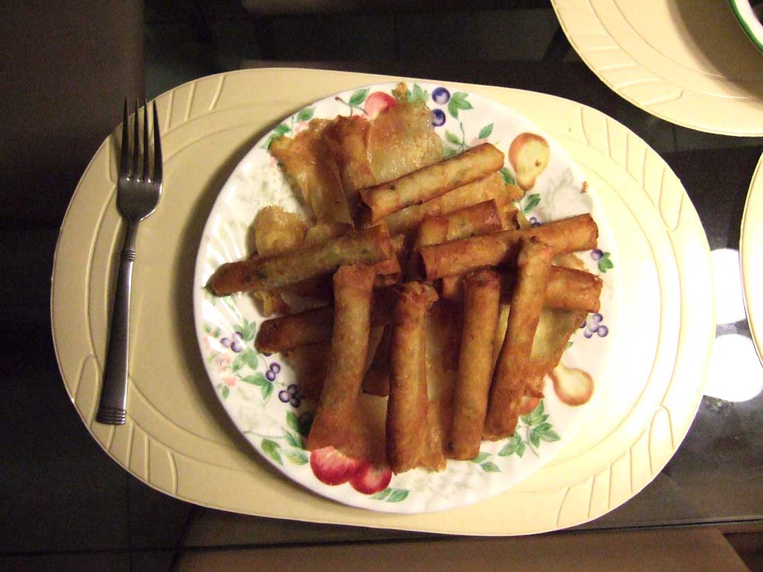 Freshly made lumpia