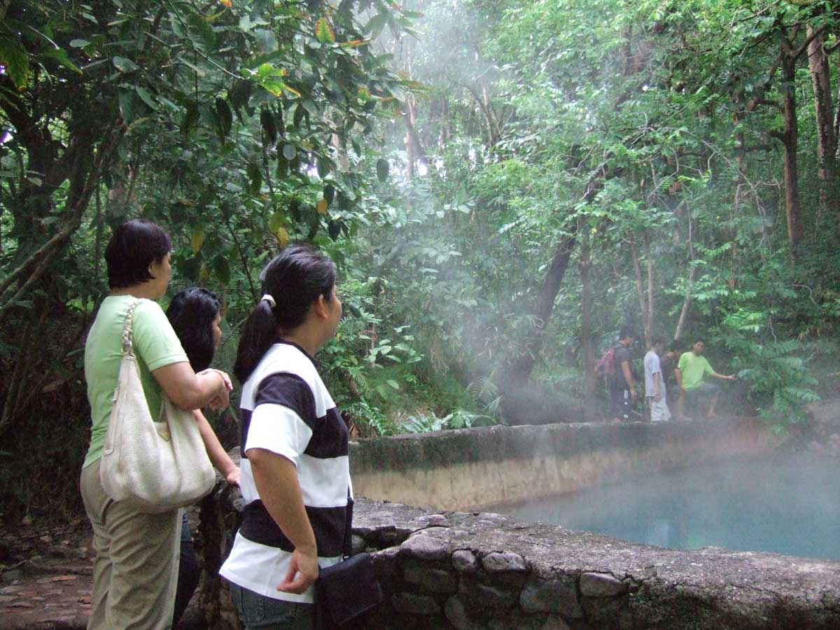 Hot Springs at Mambukal Resort -- the sign said 90 degrees C!
