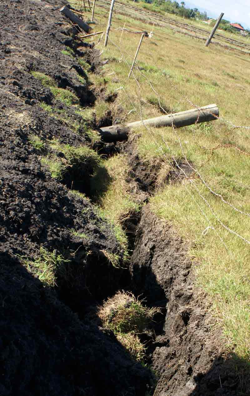Collapsed trench