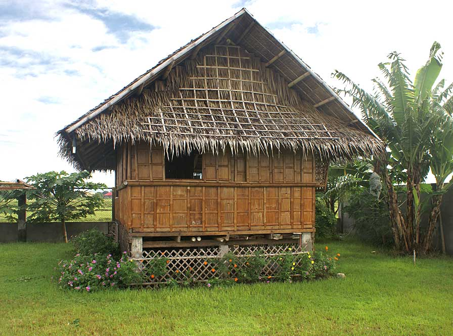 We build a bahay kubo bamboo guest house my philippine for Terrace ng bahay