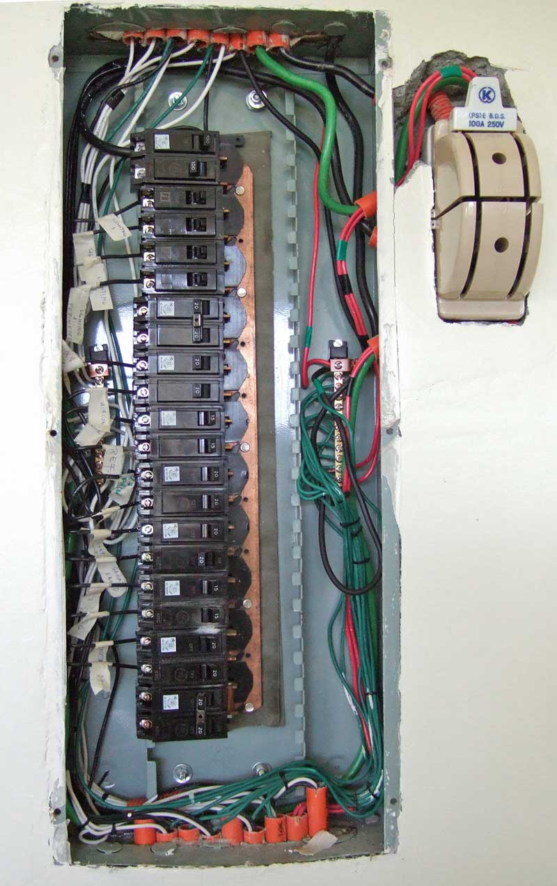 Panel box and genset transfer switch