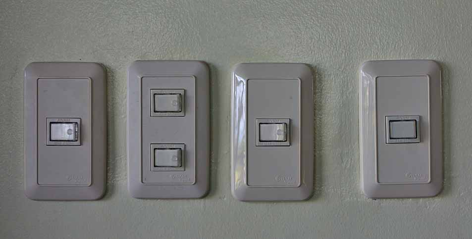 Outdoor lighting switch panel