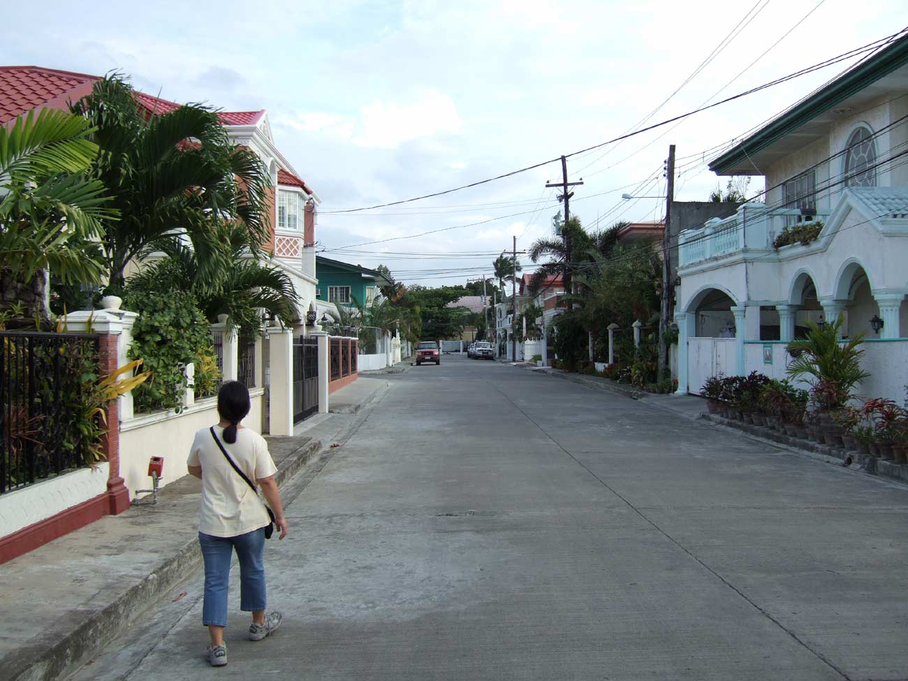 """Main Street"" Southville Subdivision, Iloilo Iloilo City, Panay Island, Philippines  In December 2006 we looked at a large four bedroom house here. The price was P 9M. We looked at it again in August 2007. The price, fully furnished, was P 7M."