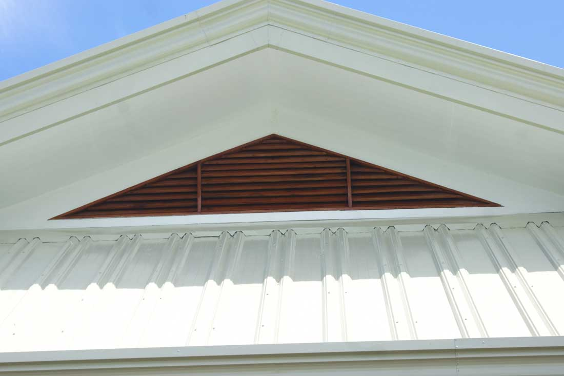 Installing a ridge vent for Roof peak decorations