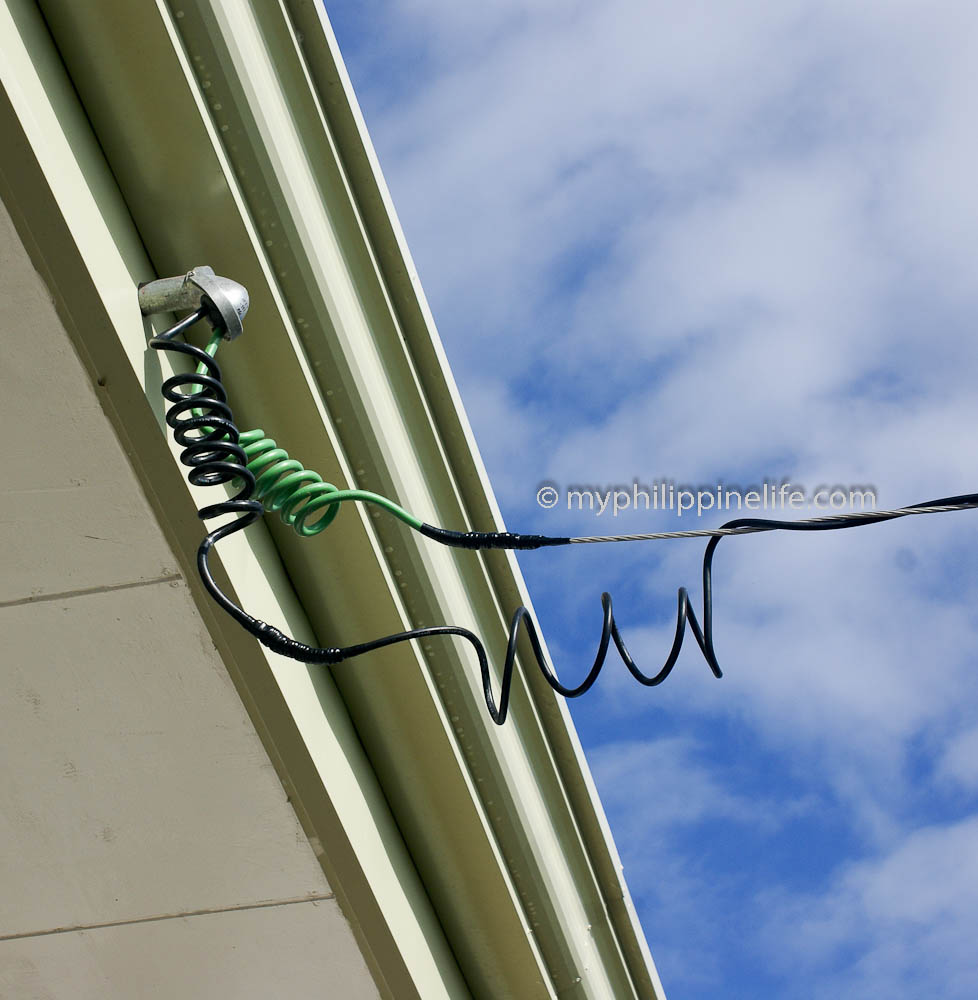 Duplex cable from meter to weather head