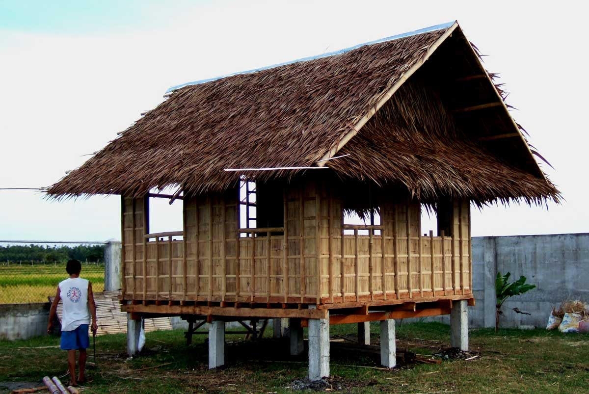 We build a bahay kubo bamboo guest house my philippine - Bamboo house design and floor plan ...