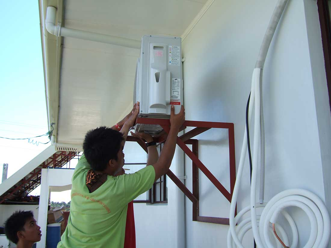 Singer Condenser Outdoor Unit Wiring Diagram Our Philippine House Project Air Conditioning My Life Installing The